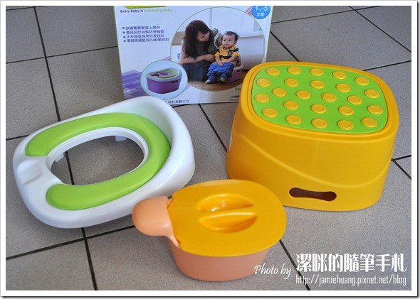 Creative Baby 多功能三合一學習馬桶之拆開樣