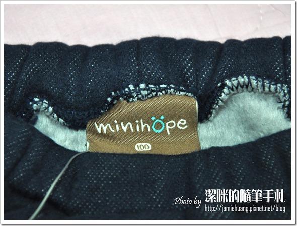 Minihope 童裝之褲頭標籤