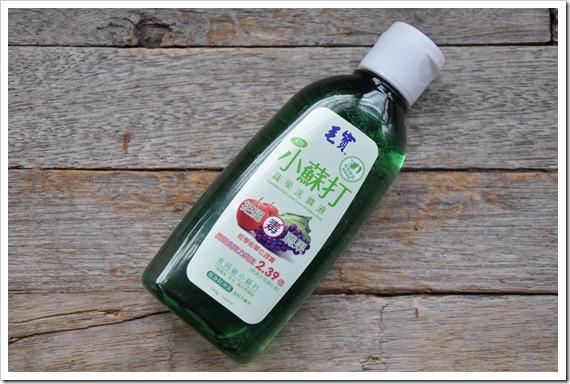 毛寶天然小蘇打蔬果洗滌液之體驗品