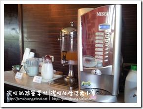 竹林雅緻之餐廳飲料區