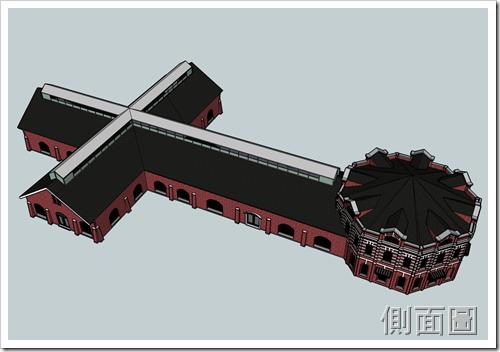 西門紅樓-側視圖