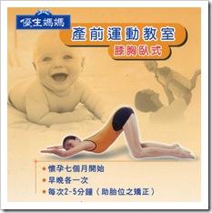 產前運動之膝胸臥式