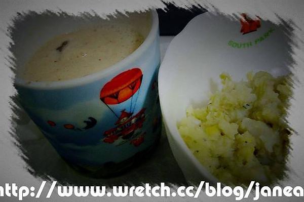 [公主食譜]-凱薩蝦沙拉、精力果汁