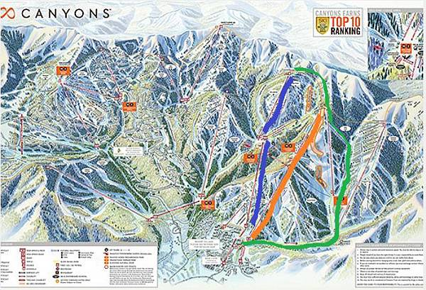 canyons map