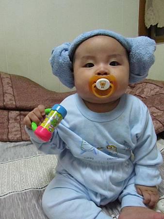 20111101阿愷毛巾頭02.JPG