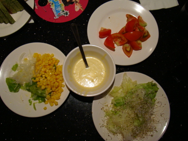 我要用這些食材做自製沙拉