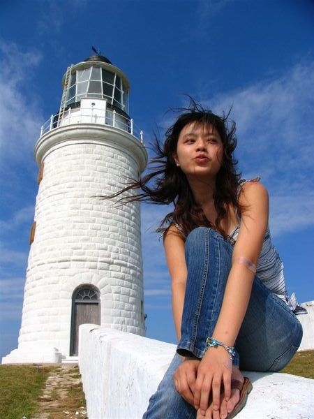 濃濃希臘風的東犬燈塔