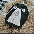 貓頭鷹鑰匙包綠格