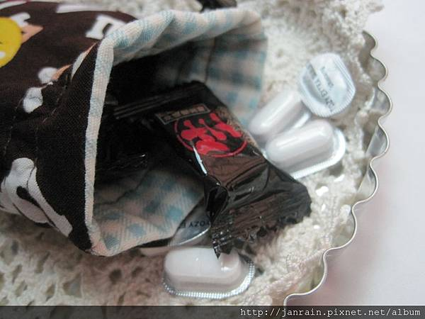 mm巧克力束口袋