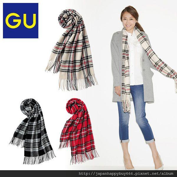 gu-女用蘇格蘭方格造型圍巾global_251973-1069