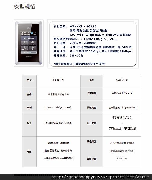 『1 to 10』UQWIFI 4G日本WIFI