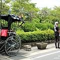 湯布院溫泉 藝術街道 人力車