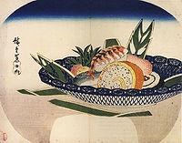 歌川廣重 壽司的畫兒