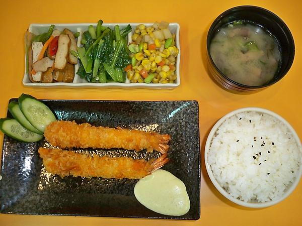 日式炸蝦定食