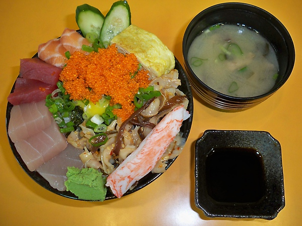 生魚片丼蓋飯