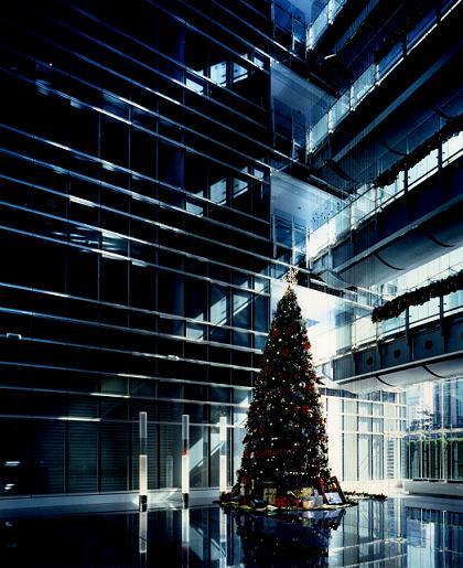 經貿大樓 大廳一角的聖誕樹