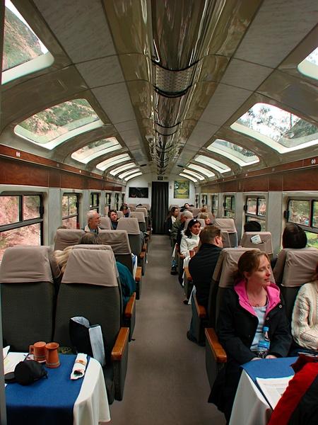 觀光火車的內部真豪華