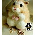羊毛氈_布丁鼠-麻糬03_felt hamster