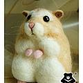 羊毛氈_布丁鼠-麻糬02_felt hamster