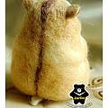 羊毛氈_布丁鼠-麻糬04_felt hamster