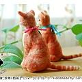 felt cat_羊毛氈貓咪_珍珠奶茶4