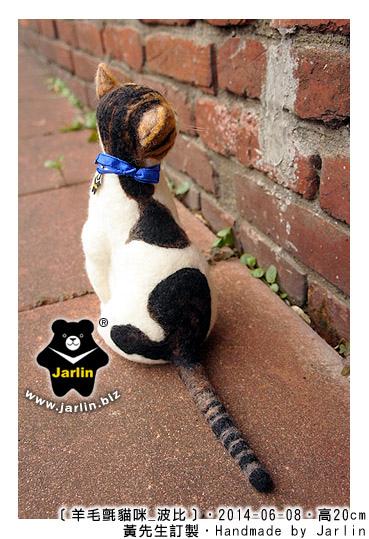 羊毛氈貓咪波比_Jarlin_cat felt_7