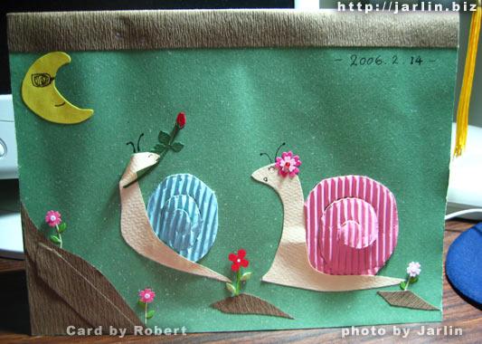 ●Robert在2006年情人節做給我的卡片