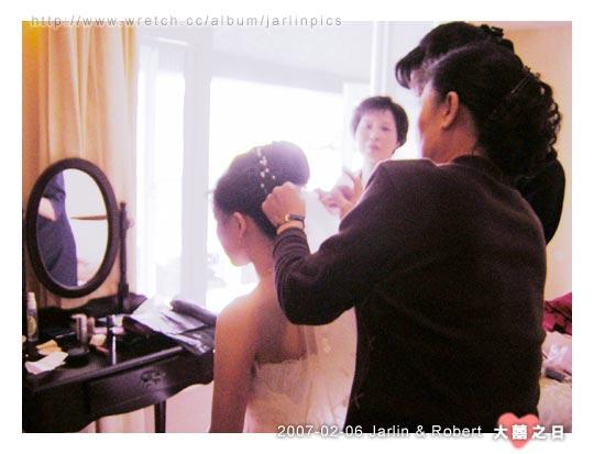 準備別上新娘頭紗