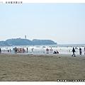 從湘南海岸看江之島
