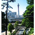 遠遠看到橫濱塔
