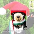 12月_期待聖誕的小黑熊
