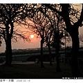 紅通通的夕陽