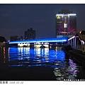 好鮮豔的藍色燈光!