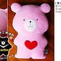 20090205_愛之熊抱枕_粉粉
