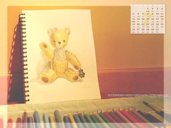 7月_2_有粉紅蝴蝶節的毛線小熊