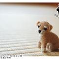 羊毛氈小狗_寶貝奇奇_felt puppy