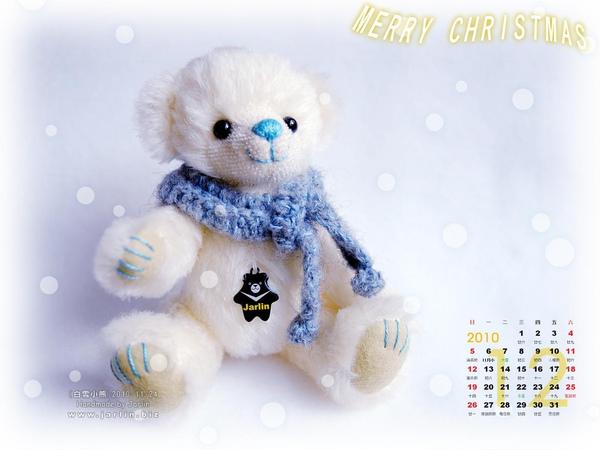 2010_1_聖誕桌布‧白雪小熊