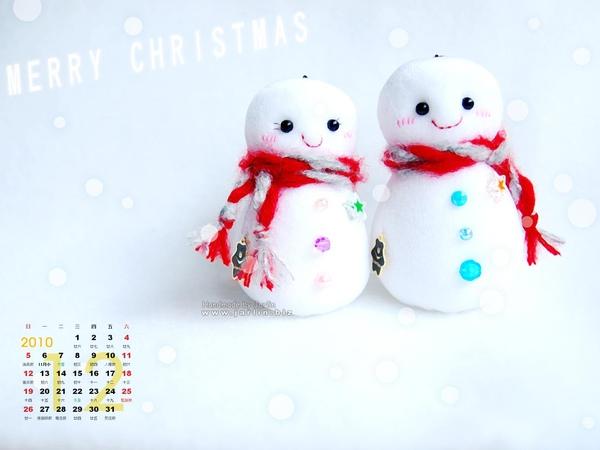 2010_3_聖誕桌布‧小雪人