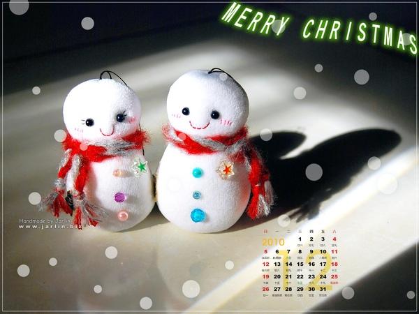 2010_2_聖誕桌布‧小雪人