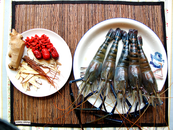 麻油燒酒蝦_材料
