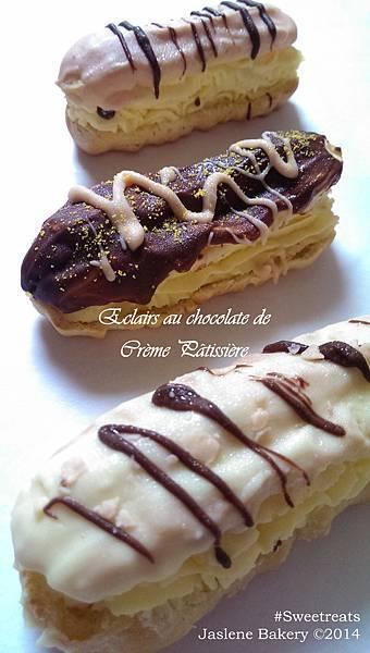 Eclairs au chocolate de creme paitissiere1