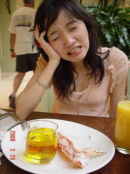 吃帝王蟹吃到最後有點痛苦