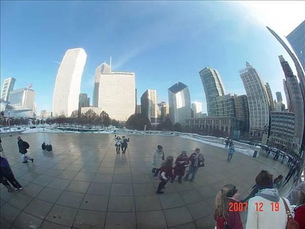 反射芝加哥最美的建築天際線
