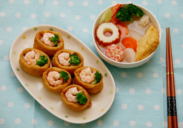 豆皮蝦蝦壽司