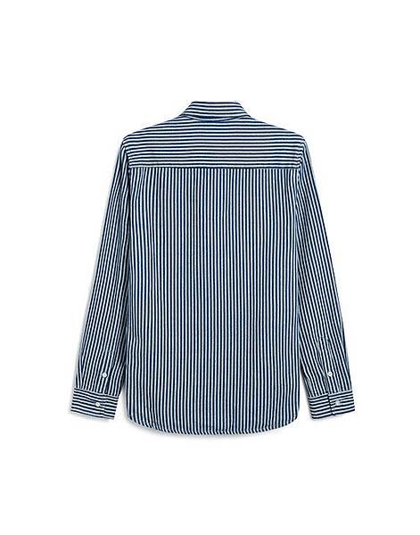 絕型魅力直條紋丹寧長袖襯衫02