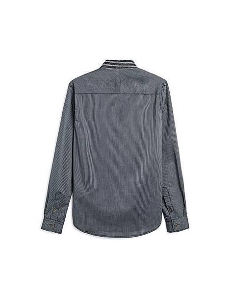 紳士品味多樣條紋長袖襯衫02