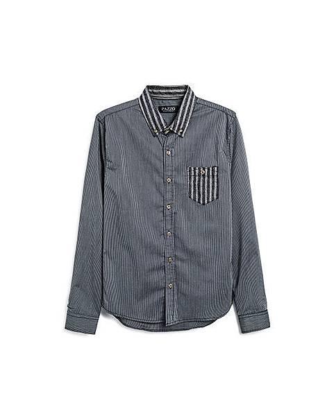 紳士品味多樣條紋長袖襯衫