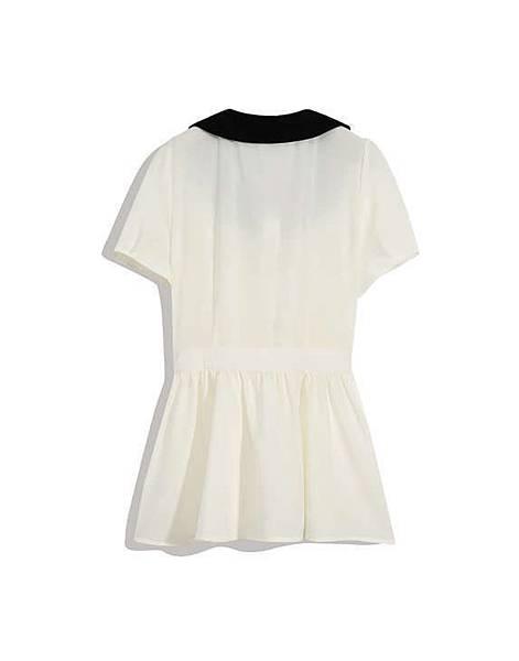可愛蝴蝶結釦飾短袖上衣02