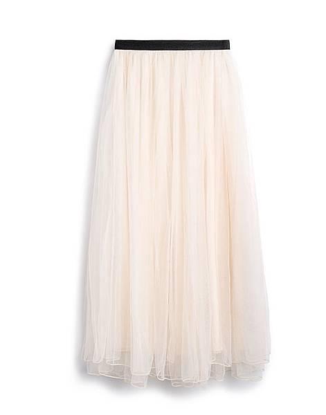 甜美芭蕾鬆緊腰頭飄逸紗裙