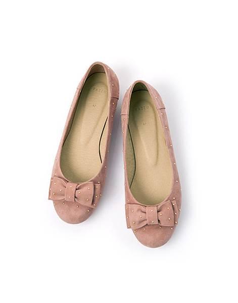 金屬點點層次蝶結娃娃鞋